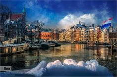 City of Wonder - Pinned by Mak Khalaf City and Architecture Amsterdamarchitecturebluecanalscitycityscapecloudssnowthe netherlandstravelurbanwinterwinterscaoedreamdreamworldartistimpression by mmpschamp