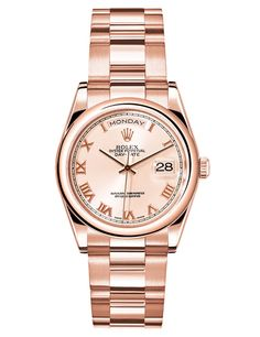 Rolex montre Oyster Perpetual Day-Date or rose http://www.vogue.fr/joaillerie/shopping/diaporama/montres-or-rose-ete/19075/image/1007169