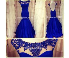 Blue Evening DressLong Party DressesBlue by DressProm20141 on Etsy, $145.00