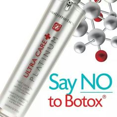 SAY NO TO BOTOX!!  Nutrimetics Ultracare Platinum Tight Firm and Fill Face Serum. Get yours today! Http://www.nutrimetics.com.au/bronessa_smith