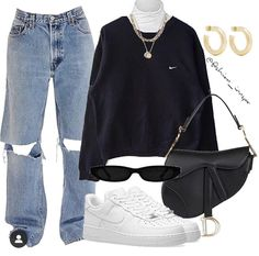 Discover recipes, home ideas, style inspiration and other ideas to try. Instagram Mode, Instagram Fashion, Streetwear Mode, Streetwear Fashion, Polyvore Outfits, Fashion Outfits, Womens Fashion, Fashion Tips, Jeans Fashion