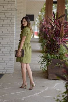 style the girl green tie front dress 9