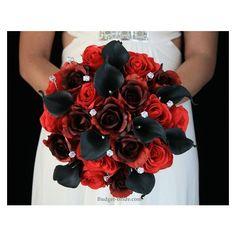 Red Bouquet Wedding, Red Wedding Flowers, Prom Flowers, Wedding 2017, Fall Wedding, Dream Wedding, Wedding Ideas, Gothic Wedding, Wedding Stuff