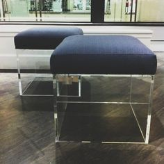 lucite cube bench  space519, chicago