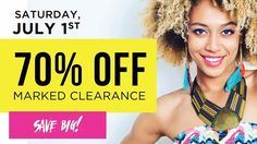 Don't miss 70% off savings at Plato's this Saturday 7/1 on all specially marked items. There's lots to choose from but shop early for the very best selection. #shopforless #shopping #deals #shorts #tees http://ift.tt/2tyDoOj - http://ift.tt/1HQJd81