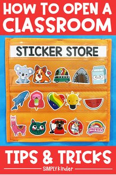 All kids love stickers! Grab a pack of vinyl stickers off of Amazon for cheap and open up a sticker store. Use this as a classroom management system or even a reward box. We've created ideas, tips and tricks to get it up and running in no time! Read more about it here! Classroom Setting, A Classroom, Classroom Organization, Teaching Jobs, Teaching Kindergarten, Organization And Management, Classroom Management, Love Stickers, New Sticker