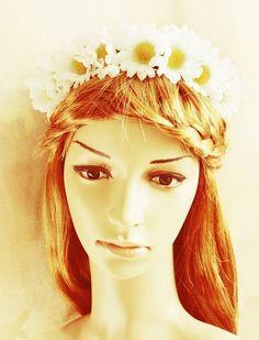 biały wianek - Gosia-Lisowska - Kwiaty do włosów