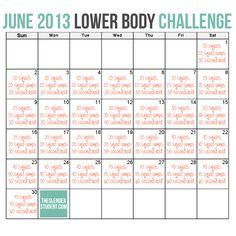 June 2013 Lower Body Challenge