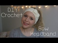 DIY crochet bow headband-So easy!