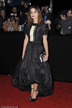 Roll out the red carpet: Victoria star Jenna Coleman looked incredible in a stunning puffball dress as she attended the MIPCOM gala in Cannes on Monday night Doctor Who, Jenna Coleman, British Actresses, Red Carpet Looks, Beautiful Actresses, Lady In Red, My Girl, Celebrity Style, Style Inspiration