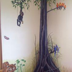 Nursery jungle murals