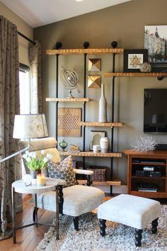 Jessie Miller Interior Designer DIY Industrial Built In Shelves