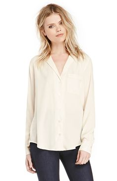 DAILYLOOK Bed Ready Blouse in Cream XS - M | DAILYLOOK