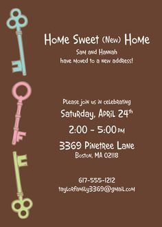 come party with me: housewarming party — invite | house ideas, Party invitations