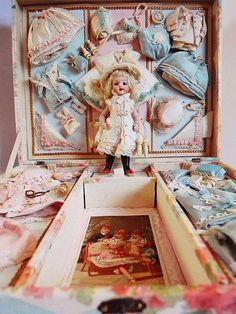 フレンチミニョネット・プレゼンテーションボックス - イギリスとフランスのアンティーク | バラと天使のアンティーク | Eglantyne(エグランティーヌ)