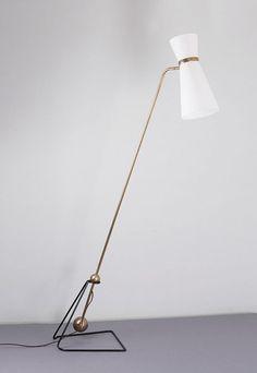 'Equilibrum' floor light, H. Lamp Design, Lighting Design, Le Corbusier Marseille, Desk Lamp, Table Lamp, Pierre Guariche, Retro Lamp, Light My Fire, Mid Century Design
