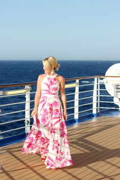 Check out gorgeous women's outfit ideas for Formal Night with Hi Sugarplum! while she was cruising around the Mediterranean.