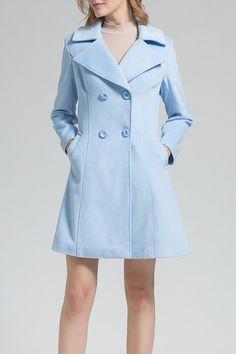 BORME -  Woolen A Line Walker Coat