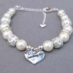Something Blue Charm Bridal Bracelet, I think this might be my favorite bracelet.. I love the charm