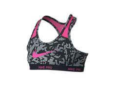 47dc235af11b1 Nike Pro Hypercool Allover Print Girls  Sports Bra Cheer Sports Bras