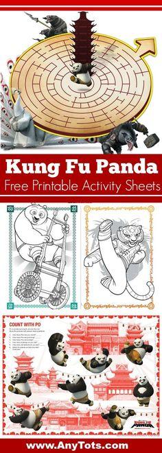 Kung Fu Panda Free Printable Activity Sheets. Kung Fu Panda Coloring Sheets, Maze and more. Visit www.anytots.com for Free printable Kung Fu Panda Coloring Sheets and Kung Fu Panda Party Ideas.