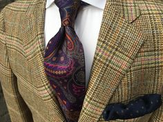 """wmkingclothiers: """"Our Version of Casual Friday It's time to dress up again. Sport coat - Samuelsohn Custom Shirt - Robert Talbott Tie - Robert Jensen Pocket square - Breuer Call us at 423-968-9383 if we can be of any assistance. """""""