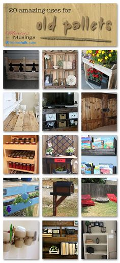 DIY 20 Amazing Uses For Old Pallets..