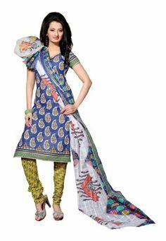 Fabdeal Indian Designer Pure Cotton Blue & Olive Green Printed Salwar Fabdeal Inc, http://www.amazon.fr/dp/B00IRBAHAM/ref=cm_sw_r_pi_dp_eqrotb00JVVJ3