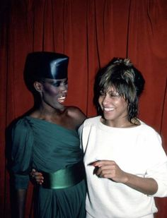 Grace Jones and Tina Turner, just hangin' and being awesome