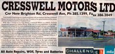 Cresswell Motors, New Brighton, Christchurch, New Zealand.