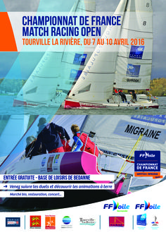 CHAMPIONNAT DE FRANCE OPEN de MATCH RACING http://evenements.ffvoile.fr/cfmro