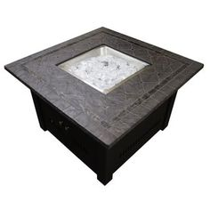 Hiland WLF-SLT Faux Stone Top Square Fire Pit | Overstock.com Shopping - The Best Deals on Fireplaces & Chimineas