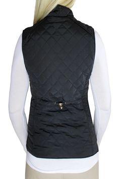 Black Quilted Vest   Shop Women's Jackets.