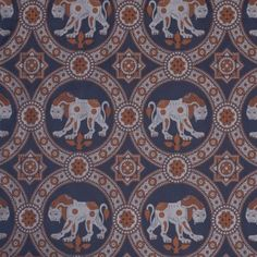 Damask with Lion of Saint Julian, Silver and Blue 11th Century, Woven Fabric, Damask, Lion, Saints, Weaving, Fabrics, Textiles, Silver