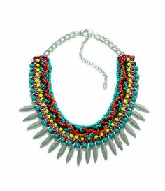 Image 1 of CHAIN NECKLACE WITH FEATHERS from Zara