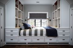 Built-in bed with storage - How to Sneak In Creative Guest-Room Storage : Laura Gaskill - houzz --- all of this storage would be great, though heavy, for a tiny house. ~cm