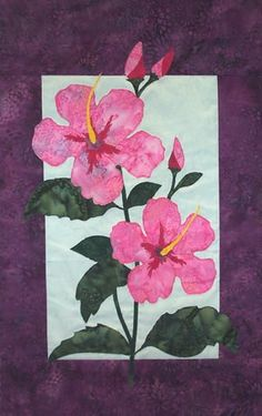 Hibiscus.. do in RED for Hawaii memory quilt!