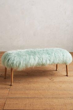 Luxe Fur Bench - anthropologie.com