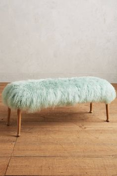 Luxe Fur Bench - anthropologie.com