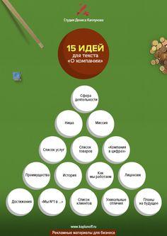 """15 идей для текста """"О компании""""."""
