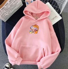 Plus Velvet Sweatshirts Women White Gown with A Hood Hoodies Long Sleeve Casual Pullover Hoodie, Long Hoodie, Teen Fashion Outfits, Retro Outfits, Oversize Pullover, Stylish Hoodies, Cute Lazy Outfits, Vetement Fashion, Tyler The Creator