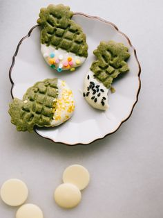 White Chocolate Dipped Matcha Shortbread Cookies Recipe — Fix Feast Flair