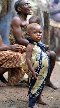 Pygmy child, Cameroon