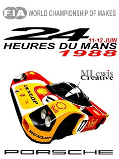 Retro Le Mans 1988 Poster by MLewis Creative