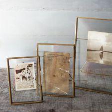 Danta Antique Brass Standing Photo frame