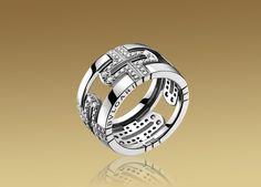 Gojee - Parentesi Large Band Ring in White Gold by Bulgari