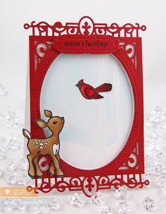 September 2014 New Release - Day One. Card by Tosha Leyendekker featuring Little Deer stamp set.  More Design Team Inspiration here - http://wmsinspiration.blogspot.co.uk/2014/09/september-2014-new-release-previews-day.html Store - www.waltzingmousestamps.com