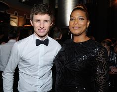 Pin for Later: All the Best Pictures From the SAG Awards Afterparties!  Pictured: Queen Latifah and Eddie Redmayne