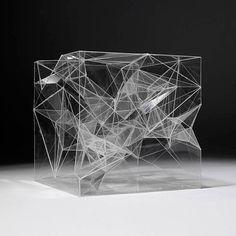 A faceted sculpture.