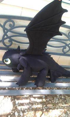 Plushie Toothless Night Fury Dragon - for nanerJoy. $160.00, via Etsy.